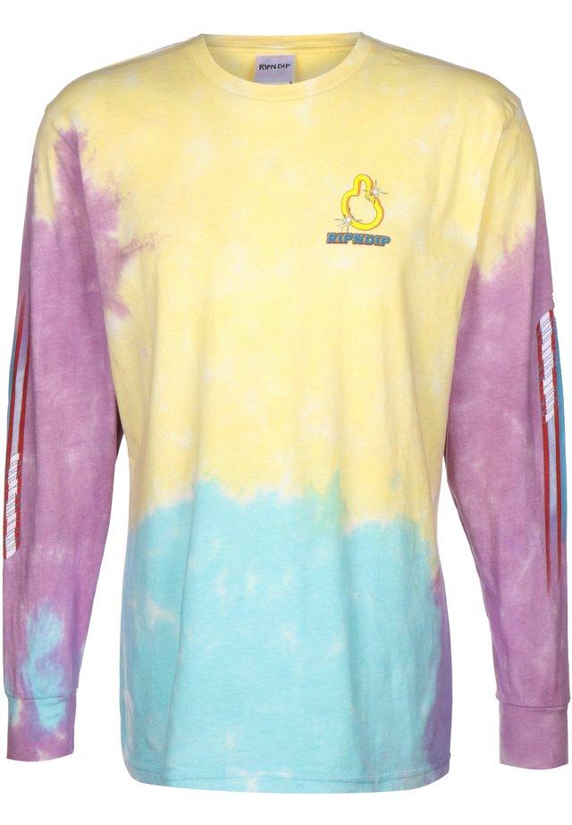 LONGSLEEVE NERMHOG - Print T-shirt - tie dye