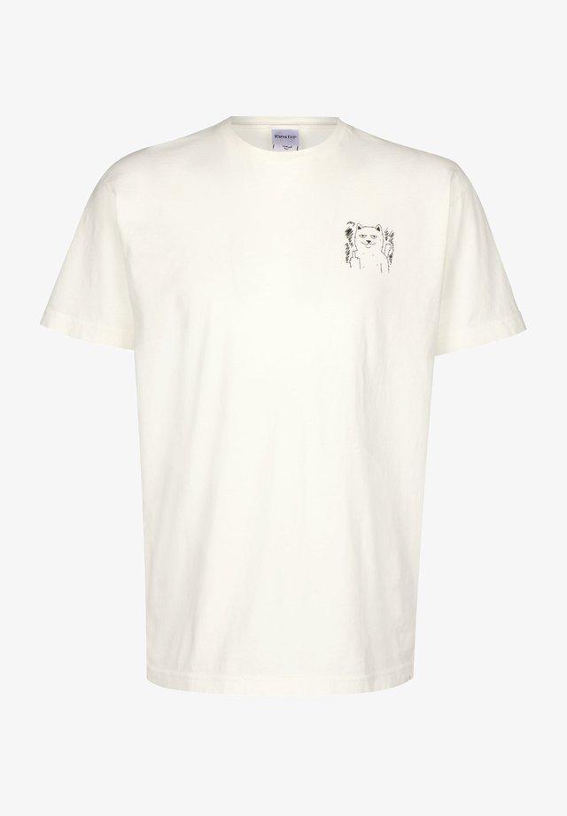 T-SHIRT FINGERED - T-shirt print - natural
