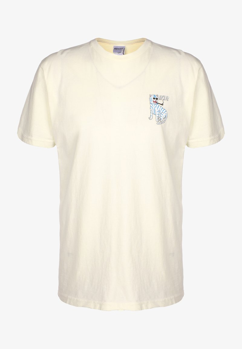 RIPNDIP - T-SHIRT COOL CAT - T-shirt print - natural