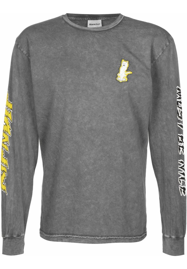 LONGSLEEVE ELECTRIFY - Long sleeved top - grey mineral wash