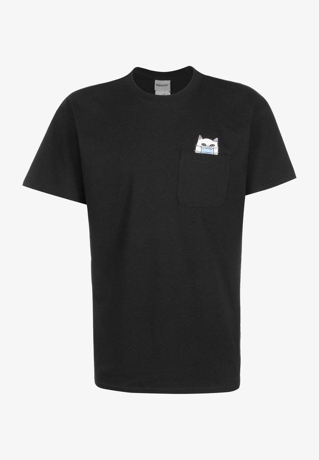 T-SHIRT LORD NERMAPHOBE POCKET - T-shirt print - black
