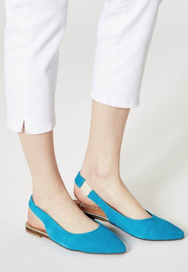 Slingback ballet pumps - turquoise