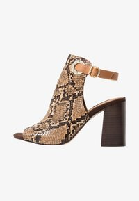 River Island Wide Fit - WIDE FIT ORSUN ANKLE STRAP  - High heeled sandals - brown - 1