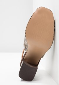 River Island Wide Fit - WIDE FIT ORSUN ANKLE STRAP  - High heeled sandals - brown - 6