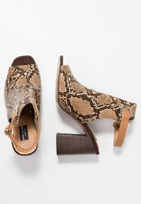 River Island Wide Fit - WIDE FIT ORSUN ANKLE STRAP  - High heeled sandals - brown - 3