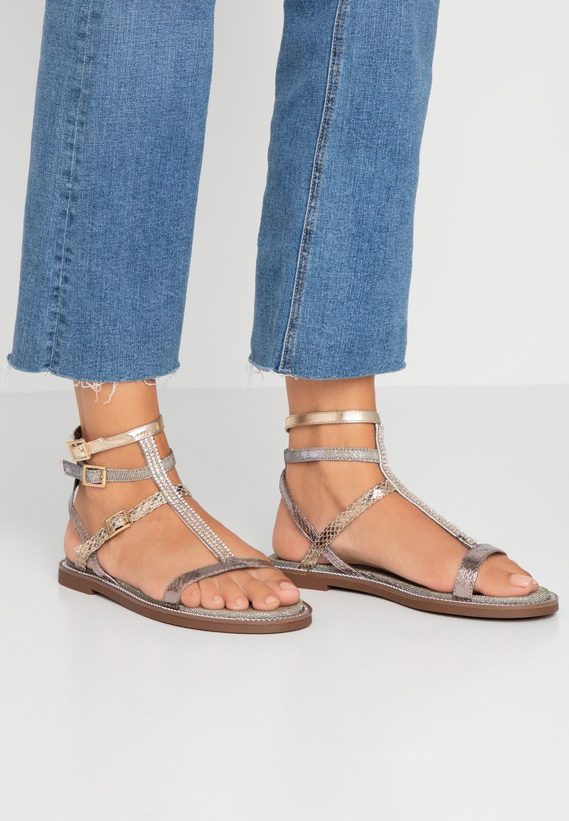 River Island Wide Fit - Sandals - bronze