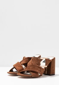 River Island Wide Fit - Heeled mules - brown - 4