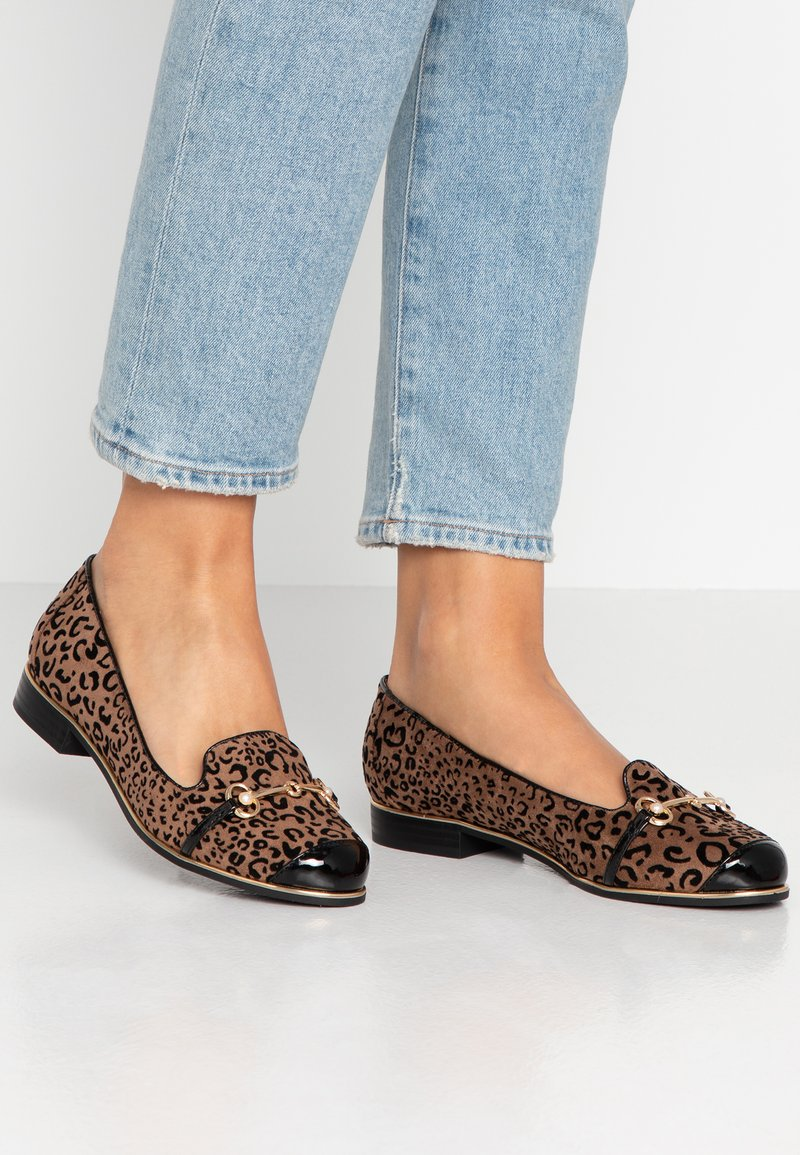 River Island Wide Fit - Instappers - brown