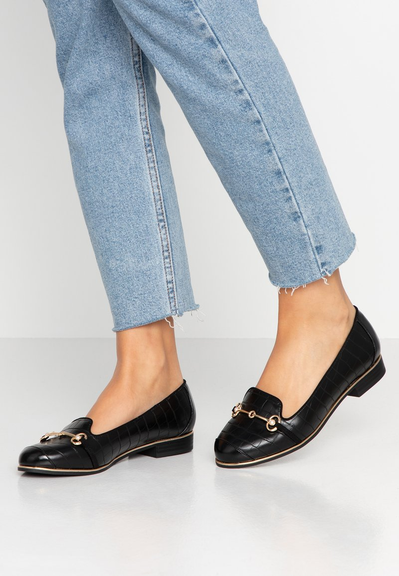 River Island Wide Fit - Instappers - black