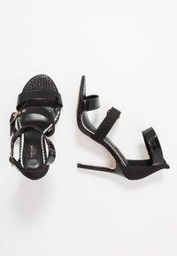 River Island Wide Fit - High heeled sandals - black - 3