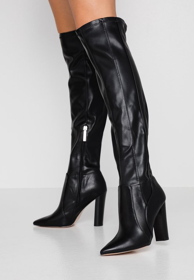 Højhælede støvler - black
