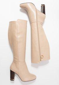 River Island Wide Fit - High heeled boots - ecru - 3