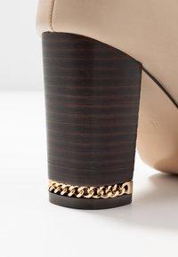 River Island Wide Fit - High heeled boots - ecru - 2