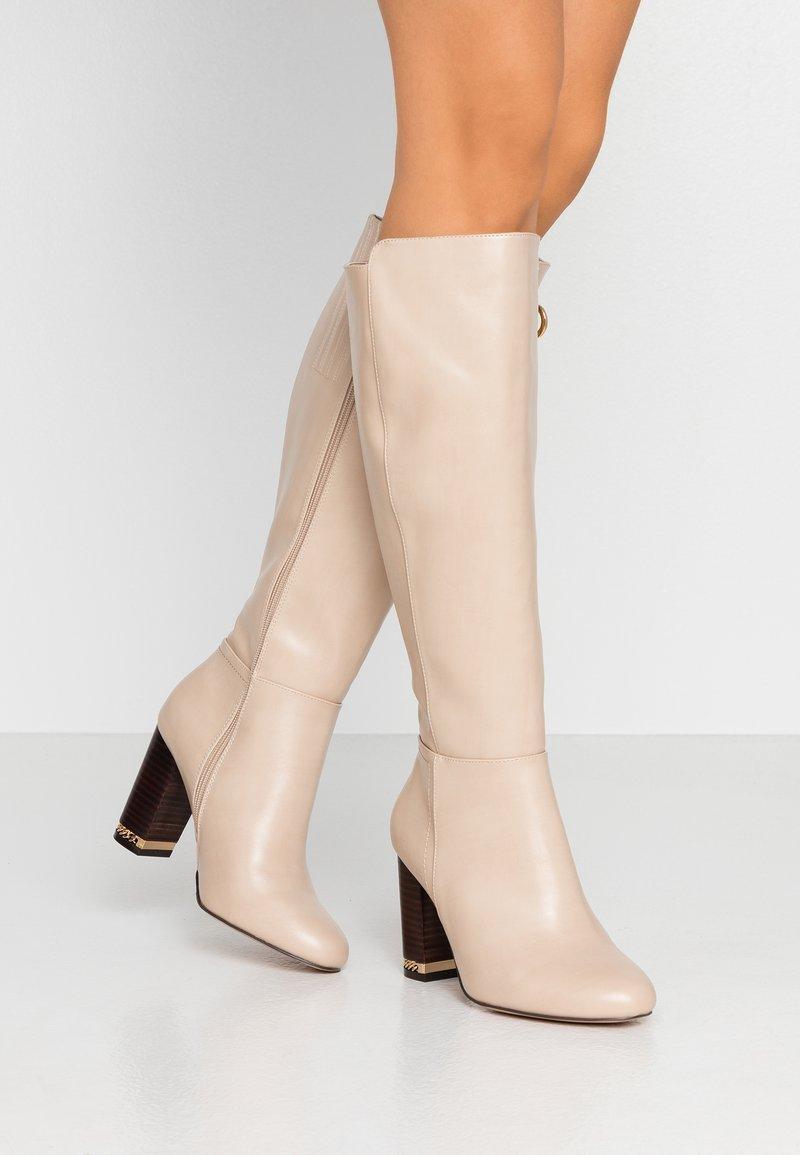 River Island Wide Fit - High heeled boots - ecru