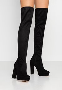 River Island Wide Fit - High heeled boots - black - 0