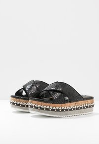 River Island Wide Fit - Pantofle na podpatku - black - 4