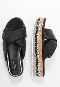 River Island Wide Fit - Pantofle na podpatku - black - 3