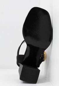 River Island Wide Fit - Sandály na vysokém podpatku - black - 6