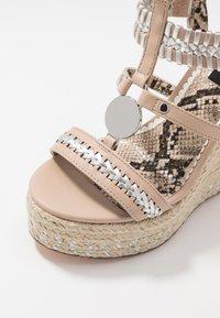 River Island Wide Fit - Sandaler med høye hæler - light pink - 2