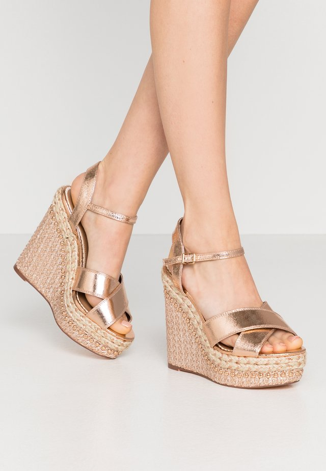 High heeled sandals - rose gold