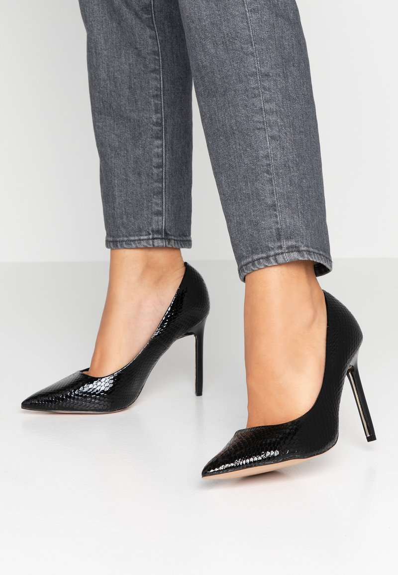 River Island Wide Fit - Korolliset avokkaat - black