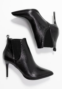 River Island Wide Fit - High heeled ankle boots - black - 3