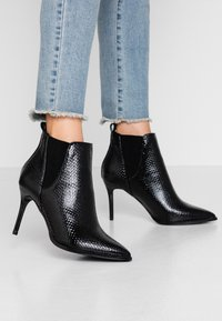 River Island Wide Fit - High heeled ankle boots - black - 0