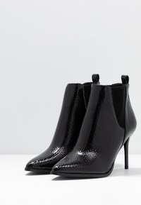 River Island Wide Fit - High heeled ankle boots - black - 4