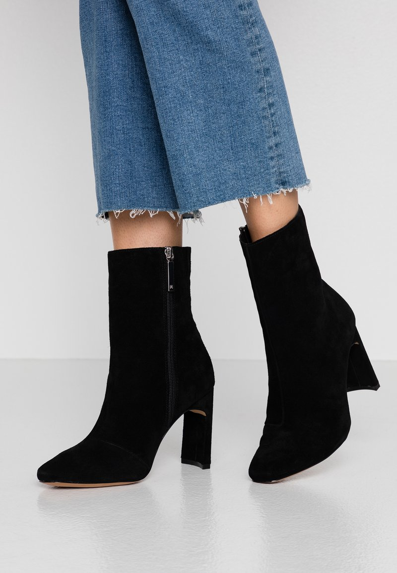 River Island Wide Fit - High heeled ankle boots - black
