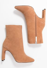 River Island Wide Fit - High heeled ankle boots - beige light - 3