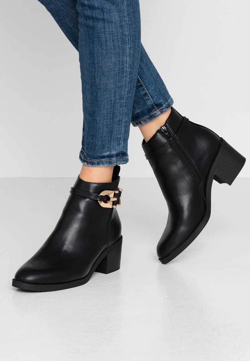 River Island Wide Fit - Ankelstøvler - black