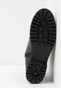 River Island Wide Fit - Platform ankle boots - black - 6