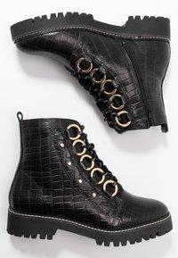 River Island Wide Fit - Platform ankle boots - black - 3