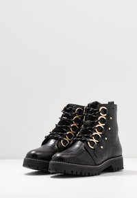 River Island Wide Fit - Platform ankle boots - black - 4