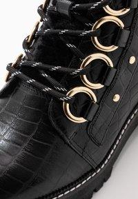River Island Wide Fit - Platform ankle boots - black - 2