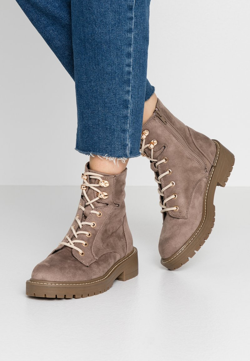 River Island Wide Fit - Lace-up ankle boots - grey