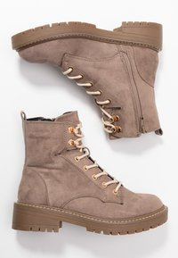 River Island Wide Fit - Lace-up ankle boots - grey - 3