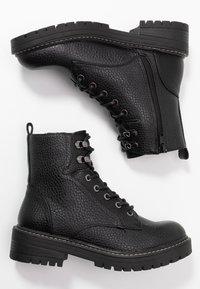 River Island Wide Fit - Kotníkové boty na platformě - black - 3