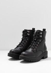 River Island Wide Fit - Kotníkové boty na platformě - black - 4