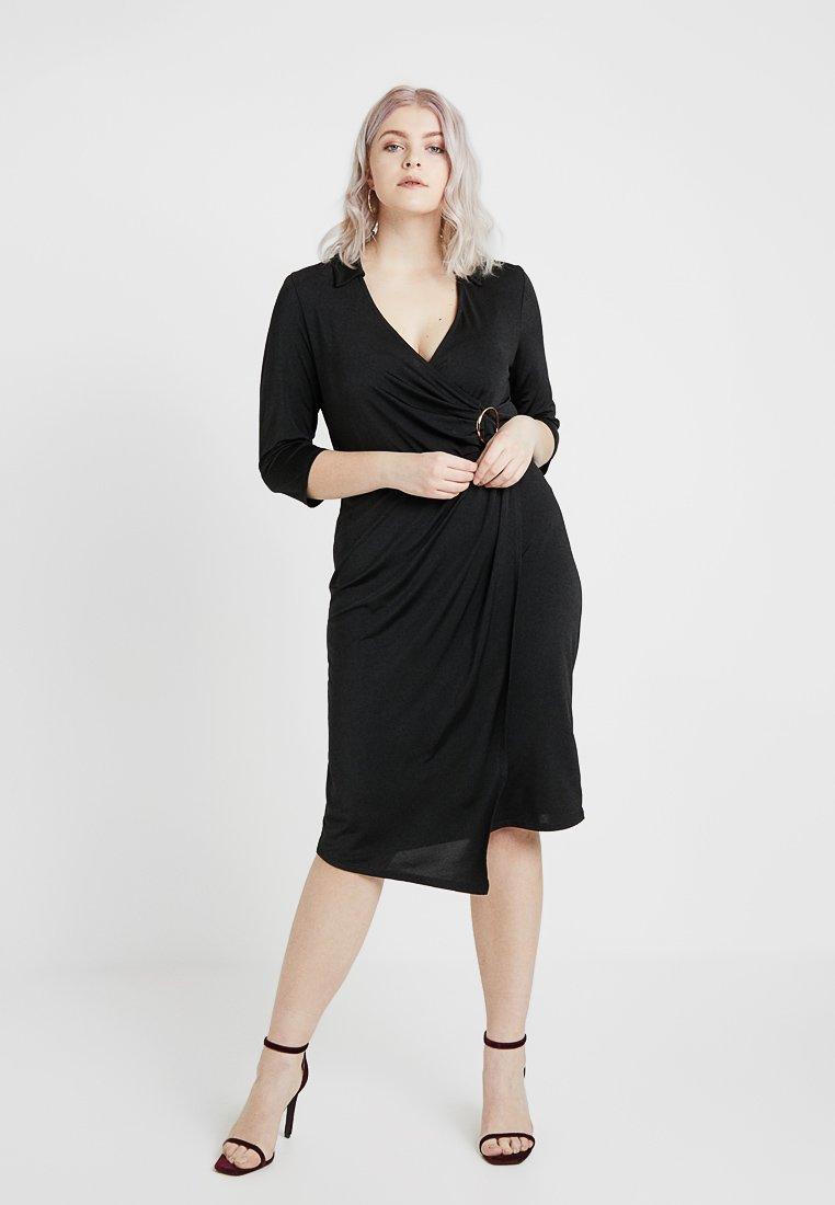 River Island Plus - Pouzdrové šaty - black