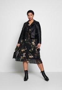 River Island Plus - SEOUL FRILLY DRESS - Day dress - black - 1