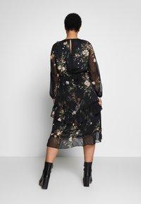 River Island Plus - SEOUL FRILLY DRESS - Day dress - black - 2