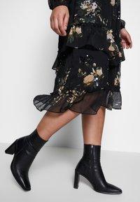 River Island Plus - SEOUL FRILLY DRESS - Day dress - black - 4