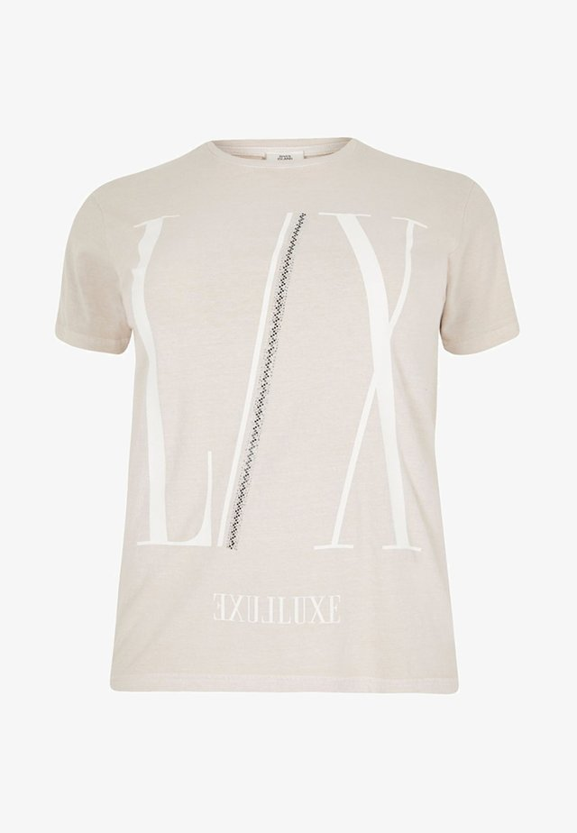 DIAMANTE  - T-shirt imprimé - cream
