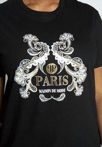 River Island Plus - Print T-shirt - black - 4