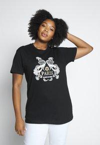 River Island Plus - Print T-shirt - black - 0
