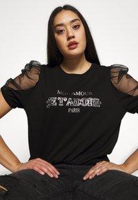 River Island Plus - J'ADORE - Print T-shirt - black - 3