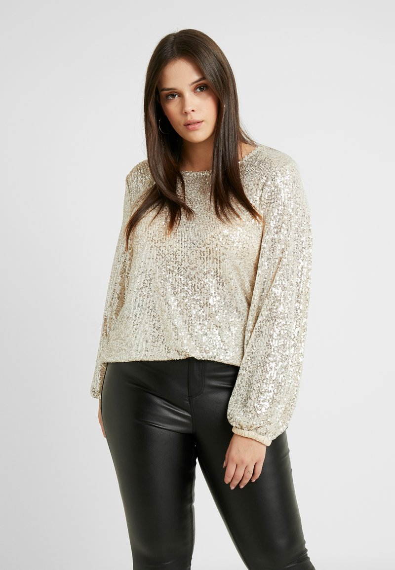 River Island Plus - SEQUIN HAYLEY TOP - Bluser - silver