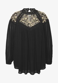 River Island Plus - ELLIE EMBROIDERED BLOUSE - Blůza - black - 4