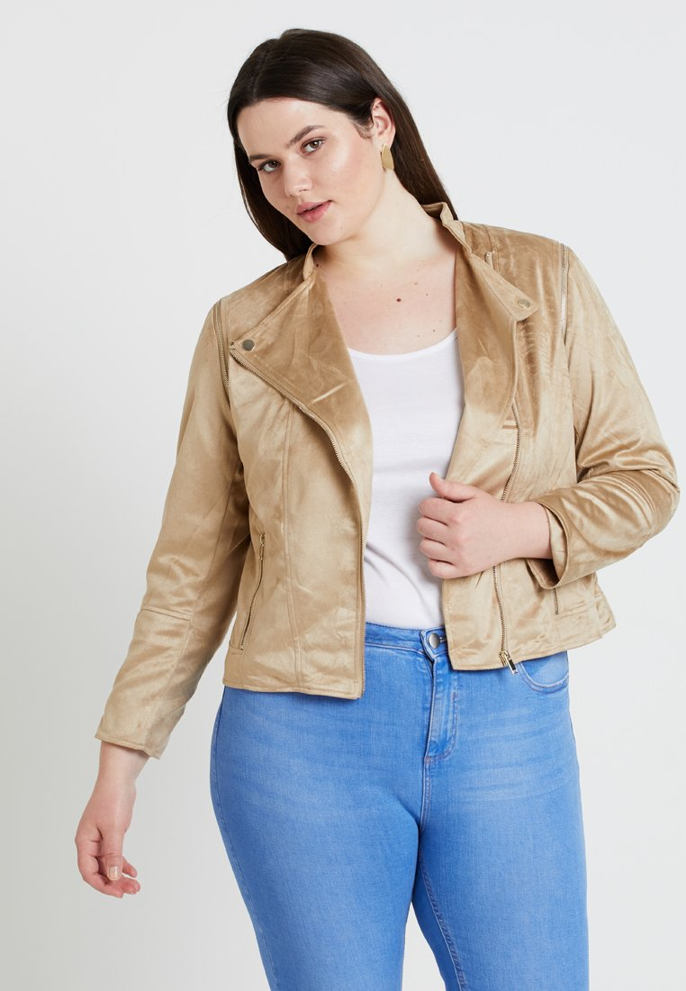 River Island Plus - Faux leather jacket - light brown